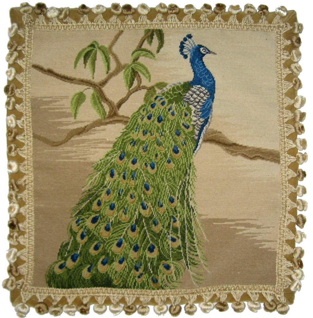 Peacock Aubusson Pillow