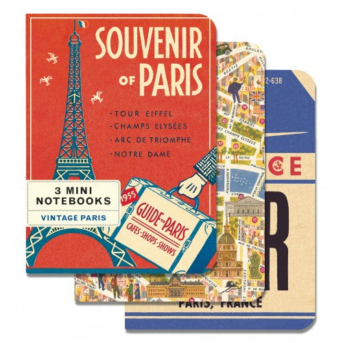 Souvenirs of Paris - 3 Mini Vintage Notebooks