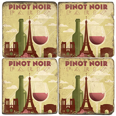 Pinot Noir Paris Coaster Set of 4