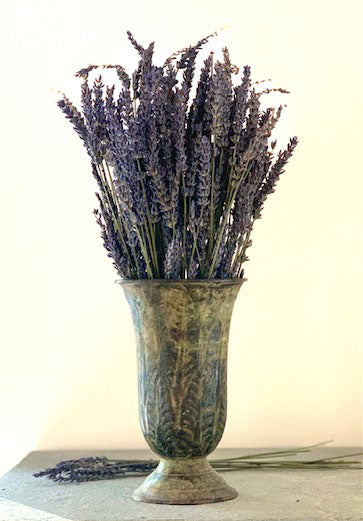 Antique Metal Vase