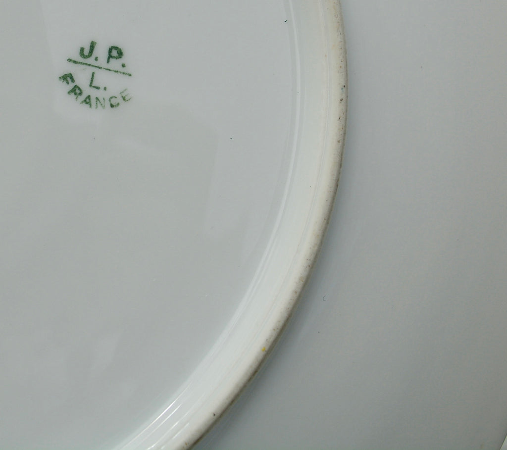 JPL Antique France Porcelain Platter with Handles