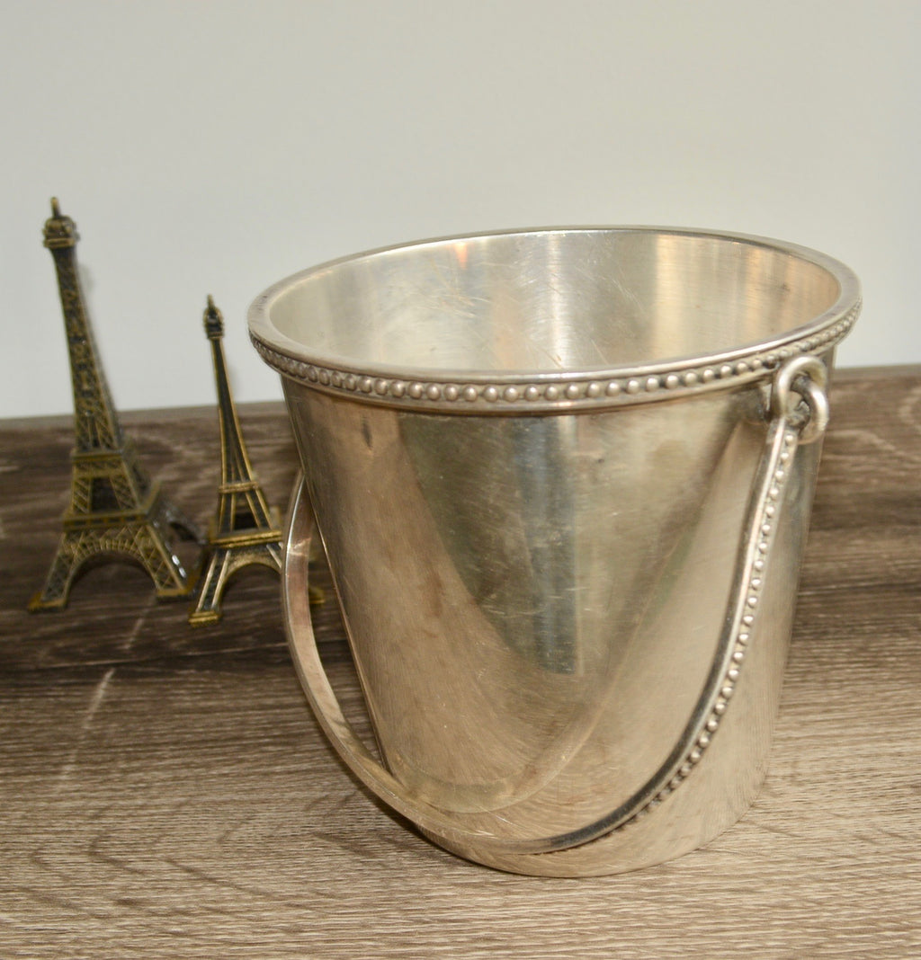 Vintage Ercuis French Silver Ice Bucket