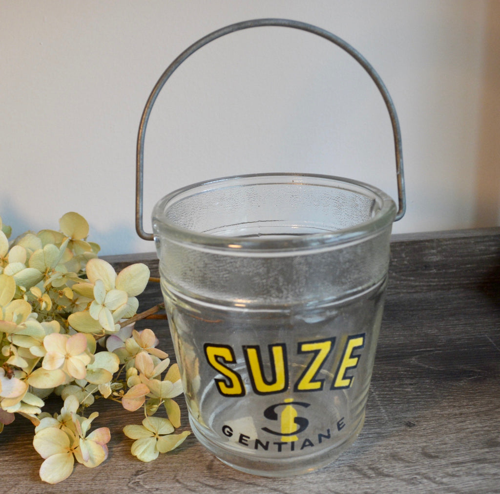 Vintage 1950's Suze Glass Ice Bucket
