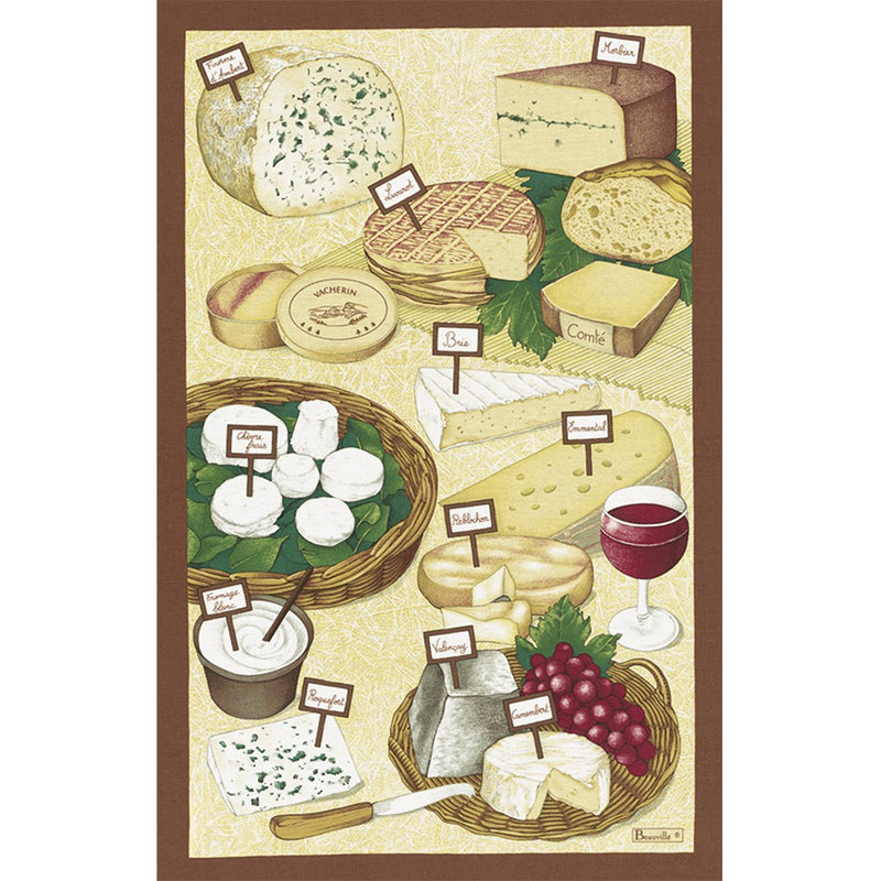 Beauvillé Fromages Tea Towel
