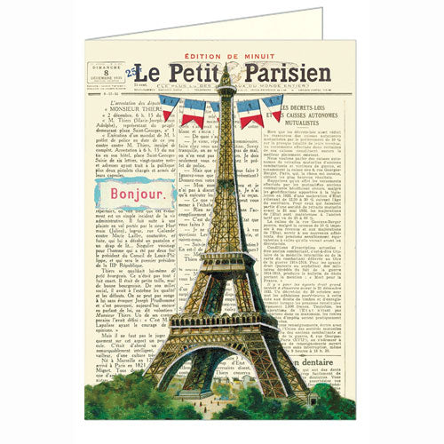 Le Petit Parisien Greeting Card