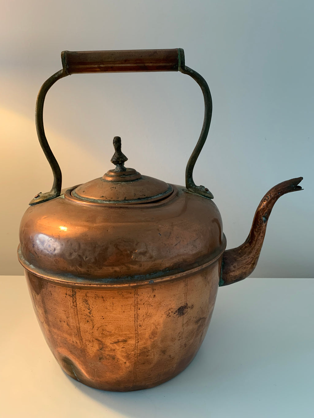 Antique French Large Copper Tea Pot