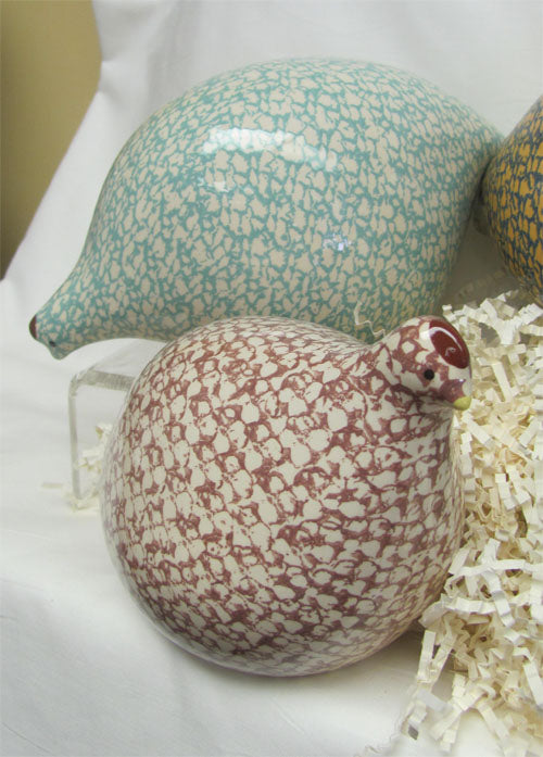 Quails by Heidi Caillard - White and Turquoise