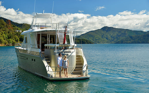 Ultra luxe cruising in the Marlborough Sounds
