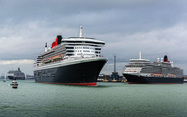 Cunard's three queens get together
