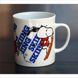 1958 PEANUTS SNOOPY SKIING Mug Cartoon Collectible Mid Century Collectable