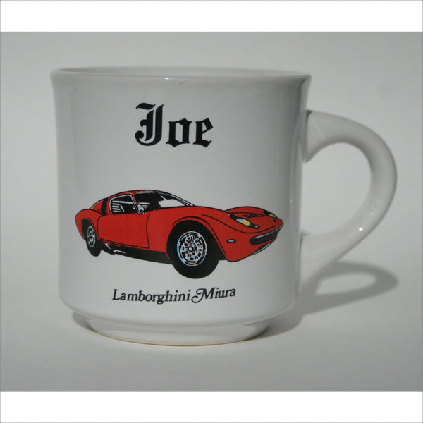 1966 - 1972 Classic  Fire Red Lamborghini Miura Race Car Italian High Performance Race Cup of Joe Car Made in JAPAN