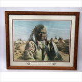 1977 ART - All Honorable Men Belong to the Same Tribe - Indian Proverb - Chief Indian Village Framed American Art Print