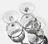 50s Champagne Glasses for Bubbly Silver Rimmed Marlyn Monroe Don Draper Mad Men Style Mid Century Modern