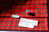 70s Vintage PLAiD SKIRT KiT Red Yellow Green DEWEY's of VERMONT Thead Zipper with Tags
