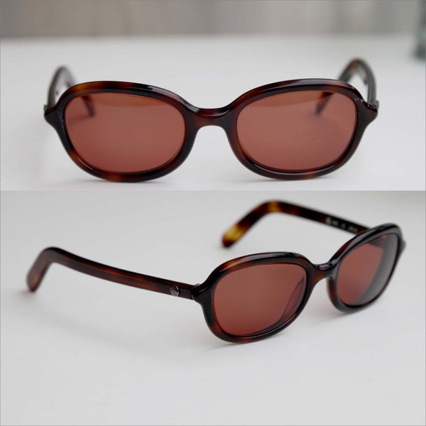 80s CALVIN KLEIN Thick Frame Rx Sunglass Frames Tortoise Shell Prescription Round Glasses CK Womens Eyewear Frames Only