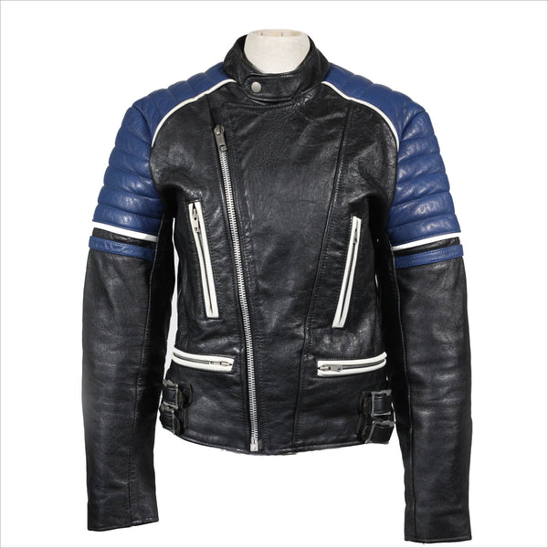 Vintage Cafe Racer Leather Motorcycle Jacket
