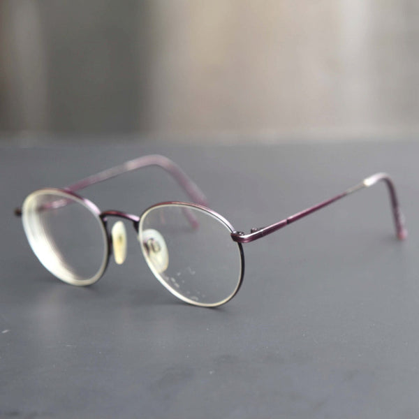 boho round spectacle eye glasses violet purple wire rim rx lenses vintage eyewear unisex frame - Wire Frame Glasses