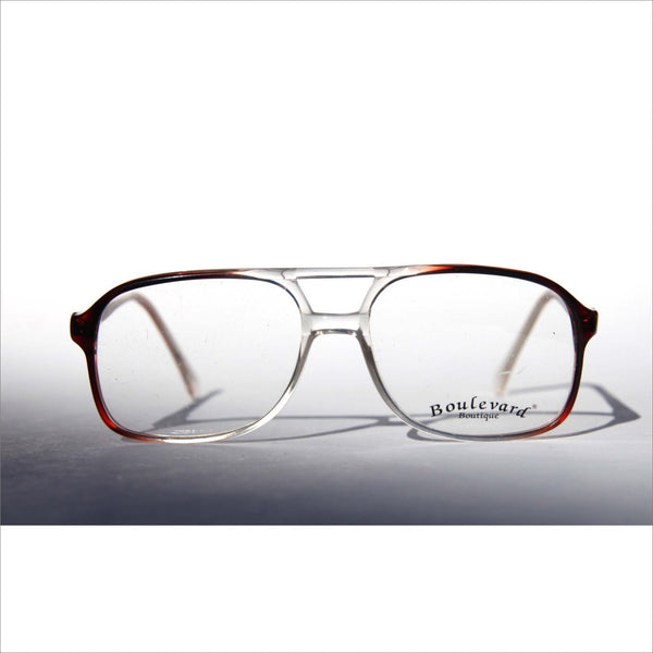 968767f642c Boulevard Boutique Classic Aviator Clear to Brown Ombre Fade New Old Stock RX  Glasses with Demo