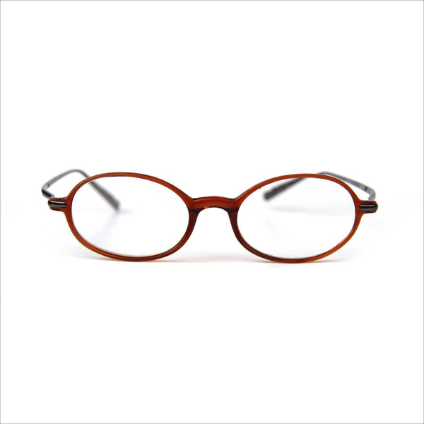 Cognac Brown Graphite Metal Steampunk Eye Glasses for Men or Women Modifiied Oval Prescription EYEMAGAZINE 1.50 Readers