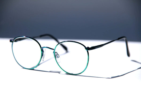 d37a7f04dc2 ... Green Round Eye Glasses STEAMPUNK Rocker Eye Neon Greenish Blue  Colorful JAPAN Frames Clear Demo and ...
