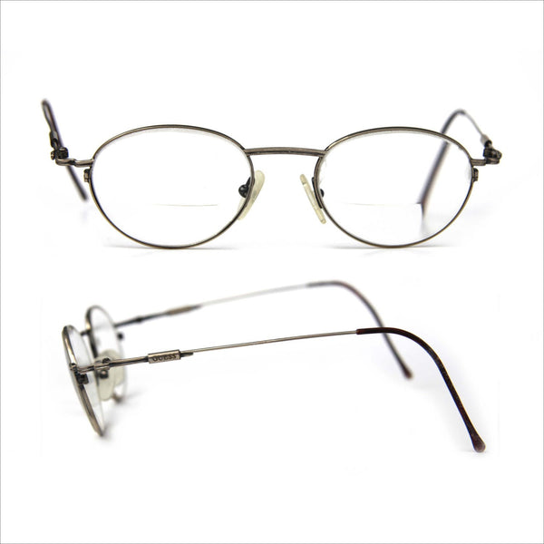 GUESS Thin Wire rim Glasses RX for Men or Women Steampunk Eye Glasses  Round Modified Oval Prescription Eyewear