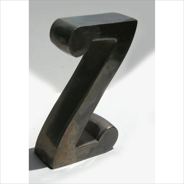 Heavy Metal Letter N or Z for Home Decor Address Apartment to Spell Word Name Initial as Industrial Art