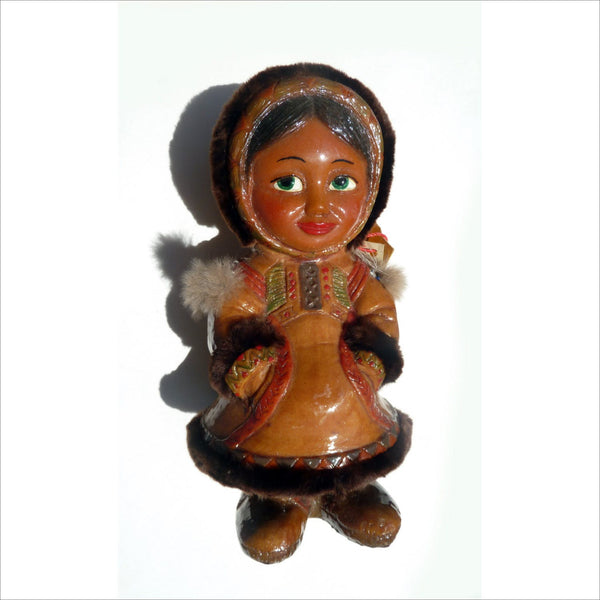 HP NABER ALASKA Doll Original with Natural Fur Hand Made Hand Carved One of a Kind Collectible