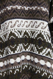 Men's XL Knit Sweater WOODSMAN Made in England Geometric Pattern 80s Mens Extra Large for Sweater Weather