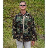 Millitary Collectible US Air Force Woodland Camo Hot Weather Coat Jacket Combat Pattern Size Med Long New With Tags