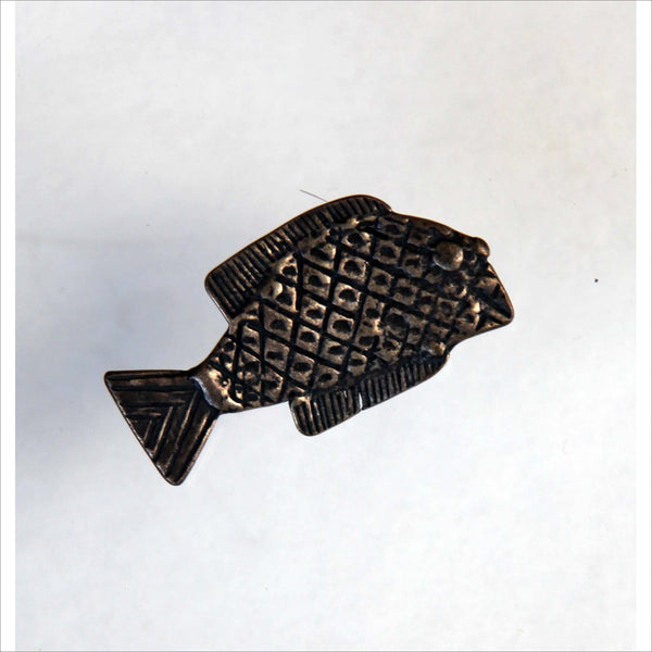 New York Metropolitan Museum of Art ASHANTI TRIBAL Fish Brooch Jewelry Pin MMA