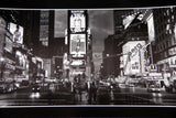 NEW YORK Times Square Vintage Black and White Photograph Print Phantom of the Opera Spotted High Waist Bikini Ad Nightlife USA