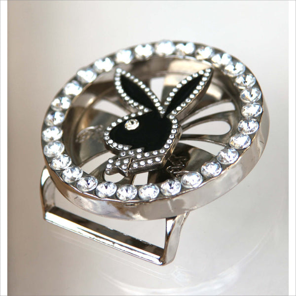 PLAYBOY BUNNY Faux Diamond Crystal Belt BUCKLE Spins Roulette Wheel Style - Authentic Licensed Playboy Registered Trade Mark