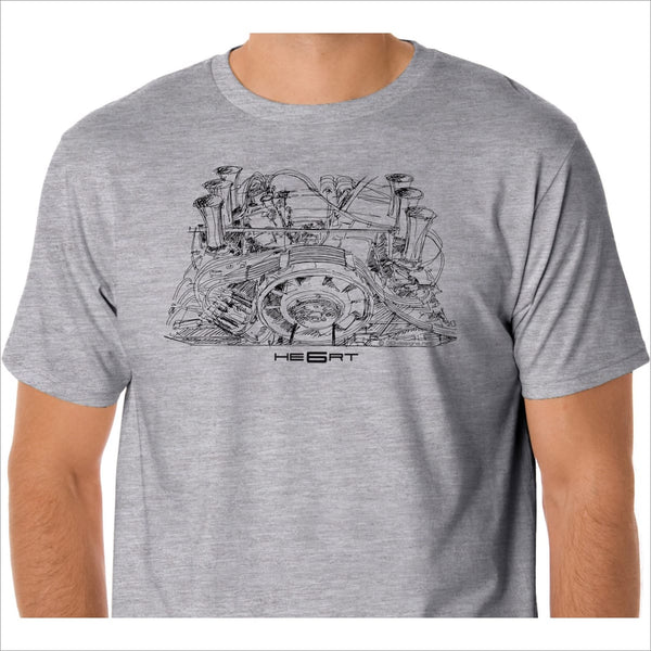 Porsche 911 Engine T Shirt Original Art Air Cooled Rsr Weber Carburetors Cherryrevolver