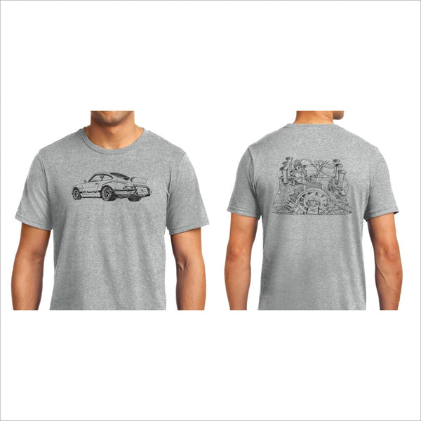 Porsche 911 Rsr Drawing T Shirt Original Art Air Cooled Ducktail Fuchs Cherryrevolver