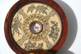 Rare Antique Chinese Scrimshaw Inlaid Bone Compass Signed Fortune Telling Lucky Zodiac Collectible