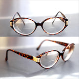 ROUND Tortoise Shell Glasses Thick Frame OLEG CASSINI Oval Round Eye Glasses Prescription Lenses Unisex Men or Women