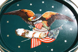 Sea Hawk Eagle 50s Mad Men Mid Century Modern Bar Tray Labor Day American Eagle Flag Stars and Stripes Retro Decor