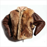 SHEEP SKIN Leather Jacket Puffy Sleeves Bat wing Italian 80s Hand Made ARTISAN Work Quilted Liner Warm Winter Coat Men or Women S or M