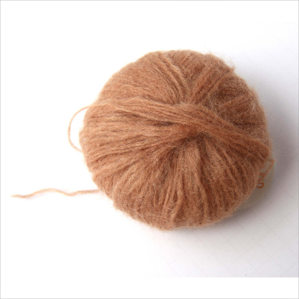 Super Soft Kid Mohair Yarn from Hamburg Germany Soft Brown Garn Grobhandel Hamberg 138 Meters