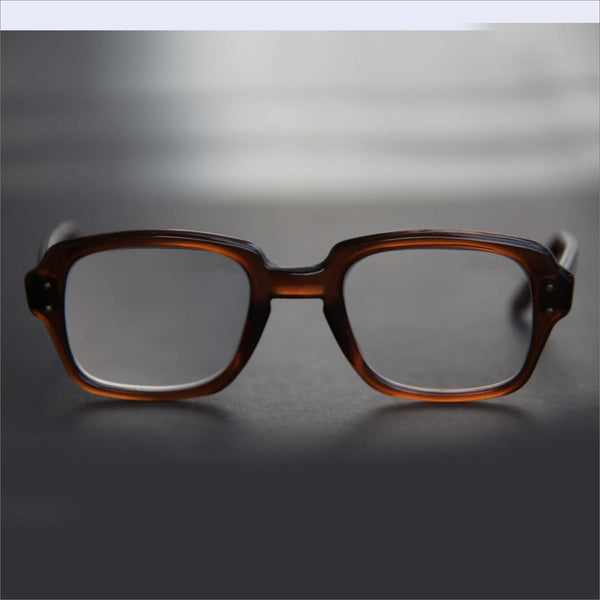 1014f3a9b28f US Military Eyeglasses Square Rectangle Keyhole Thick Brown Frame RX Prescription  Eyewear Sunglasses Men Women Combat