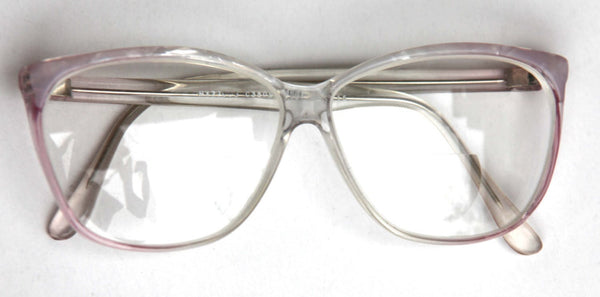 Vintage 70s 80s  PINK Pearl Abalone Transparent Wayfarer RX Eyewear for Men or Women