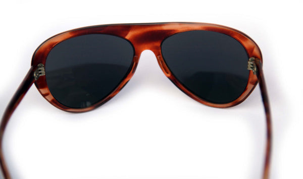6a0fa7a6c7c6c ... Vintage 70s MIRROR AVIATOR Sunglasses Made in France Thick  Tortoiseshell Frames 5 Barrel Hinges ...