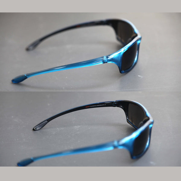 f68357600906a ... Vintage 90s CARRERA UV 400 Sports Wrap Blue Sunglasses High End  Designer Athletic Sunnies for Men ...