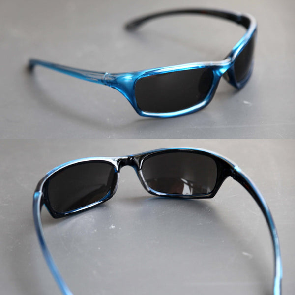 a859a9af819f8 ... Vintage 90s CARRERA UV 400 Sports Wrap Blue Sunglasses High End  Designer Athletic Sunnies for Men