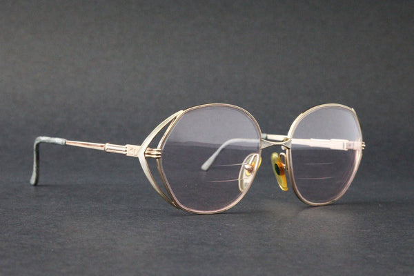 a48bd81de2 ... Vintage CHRISTIAN DIOR CD Womens Rx glasses Gold Over Sized Frame 80s  Made in Germany ...