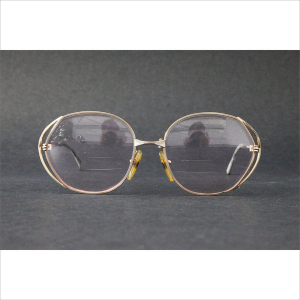 d10d6c6311 Vintage CHRISTIAN DIOR CD Womens Rx glasses Gold Over Sized Frame 80s Made  in Germany