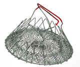 Vintage French collapsable wire egg basket with red handles for fruit shopping storing vegetables or as a cool purse