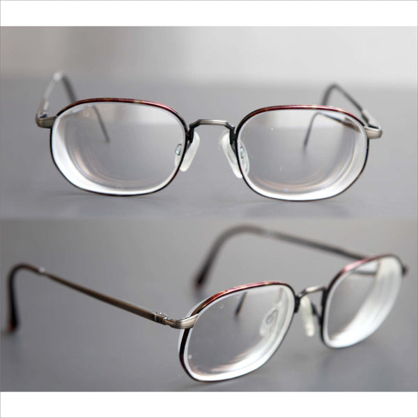 f6c9a6d62a Vintage GIORGIO ARMANI Wire Rim Eye Glasses Antique Bronze Metal Frames Pre  owned RX Frame Italy