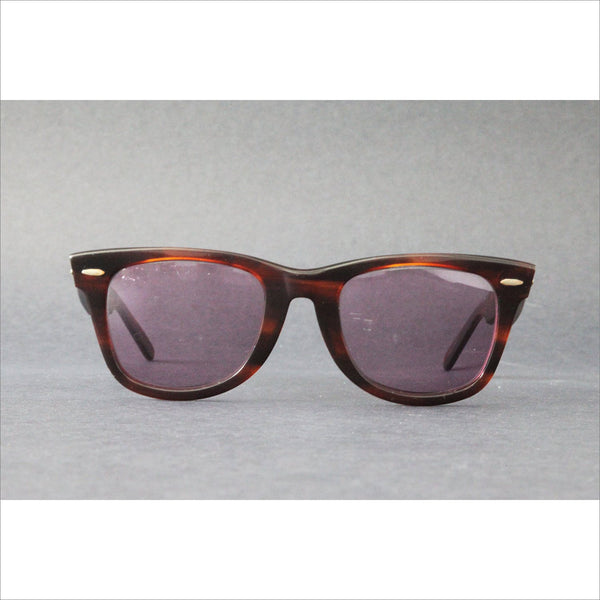 Vintage RAY BAN WAYFARER Tortoise Shell with Thick Brown Frame and Rx Prescription Lenses for Eyewear Sunglasses