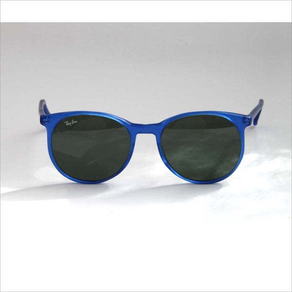955dd9c555358 Vintage RAYBAN Sunglasses Oversized Wayfarer Bausch and Lomb Round Lens in  Electric Blue with Smoke Glass